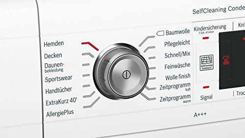 Bosch WTW875W0 Serie 8 Wärmepumpentrockner mit Glastür / Energieeffizienz A+++ / 176 kWh/Jahr / 8 kg / weiß / Edelstahltrommel / EcoSilence Drive - 4