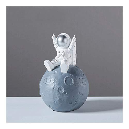 LTCTL huchas Astronauta Piggy Bank, Regalo de Resina de la Hucha para niños, Cambio de Personalidad Creativa Cambiar Hucha, Decoraciones Caja de Dinero (Color : 2 Silver)