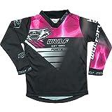 Wulfsport Ropa de motocross para niños Forte 2020 Junior MX Jersey Quad Pit Moto Racing Off-Road Top BMX Trials Niños Dirt Bike Deportes Enduro Camisas (rosa, 8-10 años)
