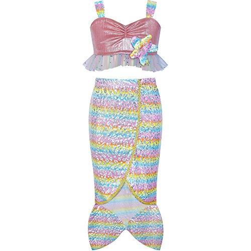 Sunny Fashion Vestido para niña Princesa Sirena Disfraz Víspera de Todos los Santos Estrella de mar 6 años