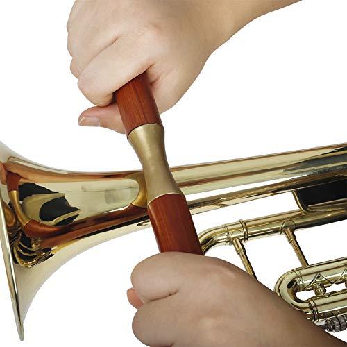 YIDOU Utensili manuali per la riparazione dei metalli Sassofono Manico in legno Rullo pressore Tromba tubiera Trombone Strumento musicale