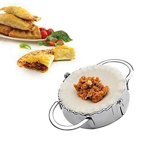 gotyou Acero Inoxidable Dumpling Maker Molde Raviolis,Moldes para Empanadas Molde Prensa Cortador de Masa,Molde Redondo para Hacer Ravioli,Accesorio de Cocina
