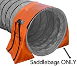 Non-Constricting Saddlebags for Stabilizing Dog Agility Tunnel Equipment Indoor or Outdoor, Orange Color