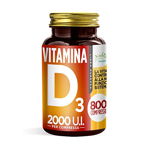 VITAMINA D3 800 COMPRESSE - 2000 U.I. - FORNITURA DI LUNGA DURATA - 100% ALTA QUALITA
