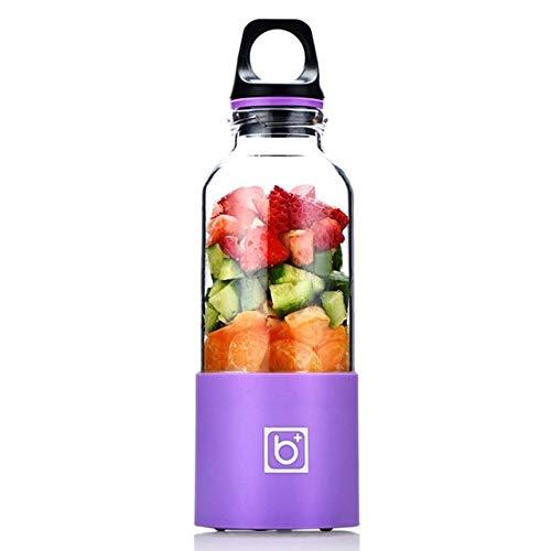 Mdsfe 500ML Portable Electric Juicer Cup USB Rechargeable Automatic Vegetables Fruit Juice Maker Bottle Juice Extractor Blender Mixer - Purple, a3