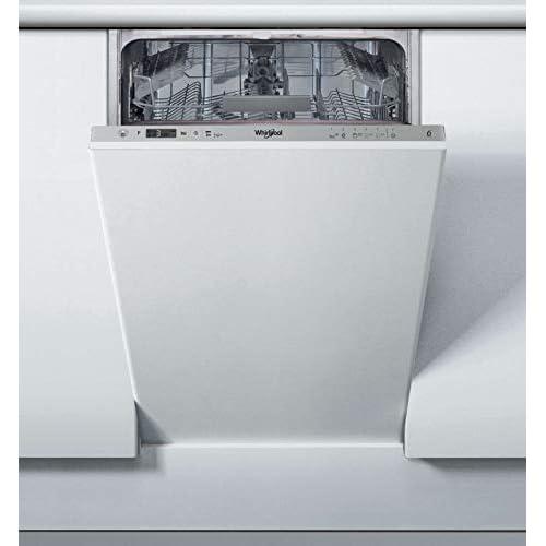 Whirlpool WSIC 3M27 - Lavastoviglie slim da 45 cm, 10 coperti, classe A++, Sesto senso