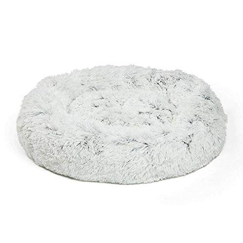 FENXIMEI warm pluche hond puppy mat huisdier bed faux bont donut knuffel kat bed, 50cm, Als afbeelding