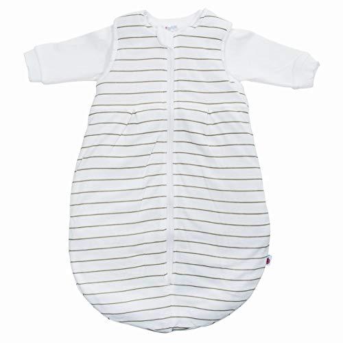Set COCONETTE Baby-Schlafsack 2-teilig & Windel Kinderhaus Blaubär | wattierter Außensack & Innensack Langarm | für Sommer & Winter | Kinderschlafsack ÖKO-Tex zertifiziert, Größe:62/68