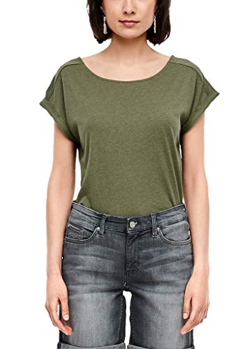 s.Oliver RED Label Damen T-Shirt mit Rückenausschnitt Khaki 46