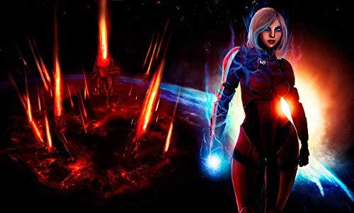 Videojuego Mass Effect 3 Pintar Por Numeros Adultos Y Niños, Dibujos Para Pintar Con Números, Diy Pintura Al Óleo Por Números Decoración Del Hogar-50 x 60cm