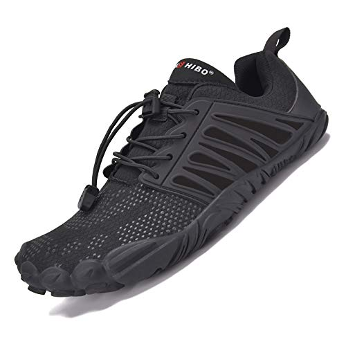 JACKSHIBO Zapatos descalzos para hombre y mujer, de secado rápido, para deportes acuáticos, antideslizantes, transpirables, 36-48 EU, color Negro, talla 38 EU