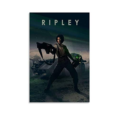 SHXI Póster de personaje de película RIPLEY en lienzo y arte de pared con impresión moderna para dormitorio familiar de 50 x 75 cm
