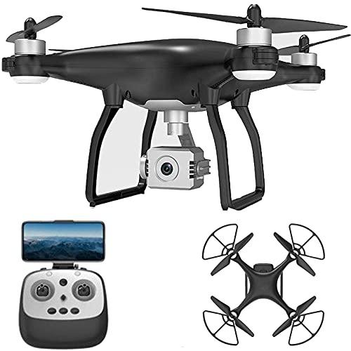 Drone con fotocamera Drone cardanico a 3 assi con fotocamera 4K per adulti Bambini 1 ora Tempo di volo 2000 metri Distanza telecomando GPS Ritorno automatico Follow Me Custodia portatile e due pipist