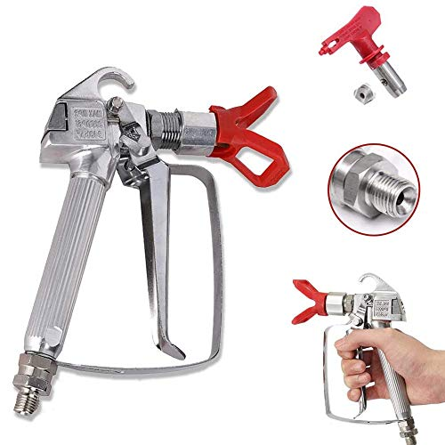 Tutor Auto High Pressure 3600 PSI Airless Paint Spray Gun with 517 Tip Swivel Joint - Replacement for Graco Wagner Titan Sprayer Gun