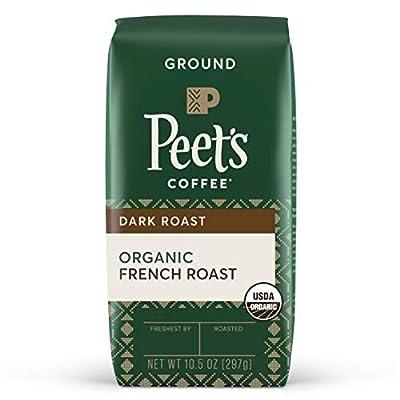 Peet's Coffee Organic French Roast, Dark Roast Ground Coffee, 10.5 oz