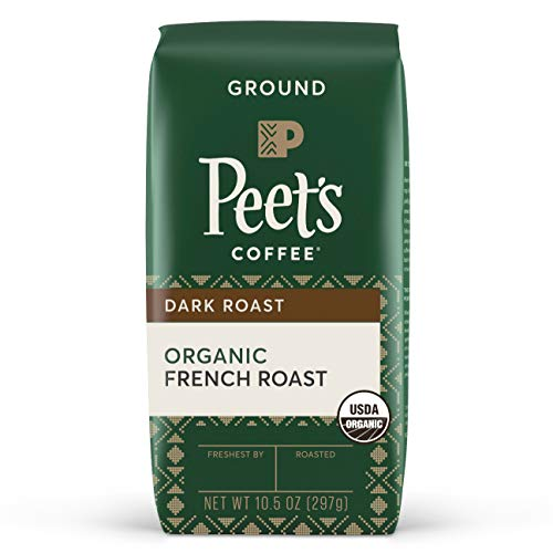 Peet's Coffee Organic French Roast, Dark Roast Ground Coffee, 10.5 oz