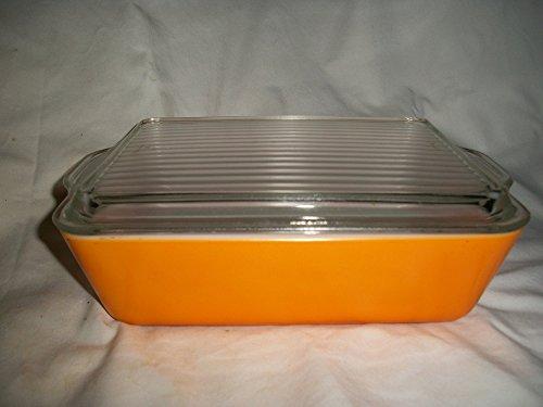 Vtg Pyrex (#503) Harvest Orange Refrigerator Casserole Baking Dish with Lid (1.5qt)