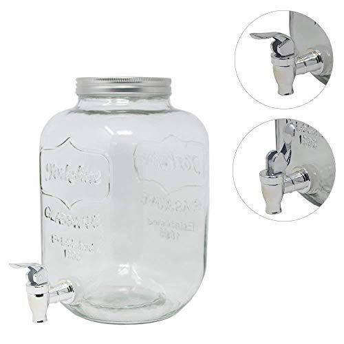 DRULINE 5 Liter Getränkespender Glance mit Hahn Saftspender Dispenser