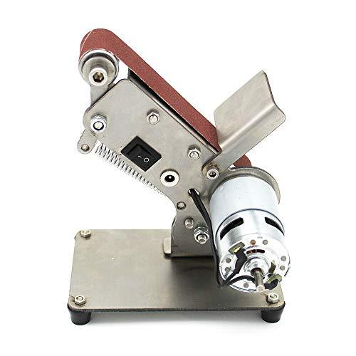 Elektrisch Bandschleifer Mini Bandmaschine DIY Poliermaschine Tischschleifer mit 895 Spindelmotor 24V 600 m/min