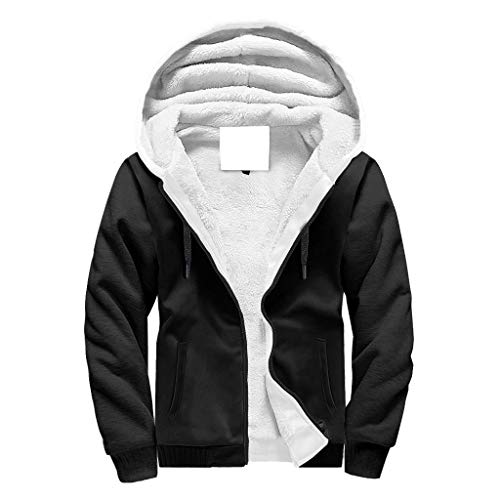 Lind88 Heren Full-Zipper Super Warm Fleece Hoodie Gevoerde Jongens & Meisjes Bule Mandala Logo Casual - Geometrie Hooded Ademend Jas voor Valentijn Gift