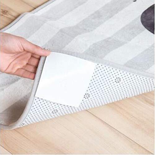 HCHD 8 STK/Packung New Badematte Teppich Mat Grippers Anti-Rutsch-Aufkleber Teppich Firm Aufkleber Wiederverwendbare Waschbar Rug Anti-Rutsch-Silikon-Grip