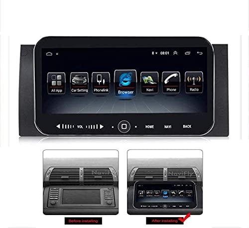 Android Car Stereo Radio Double DIN Sat Nav para BMW E39 X5 Navegación GPS Pantalla táctil de 10.25 Pulgadas Sistema de navegacion GPS Multimedia Reproductor de Video Receptor con cámara Trasera