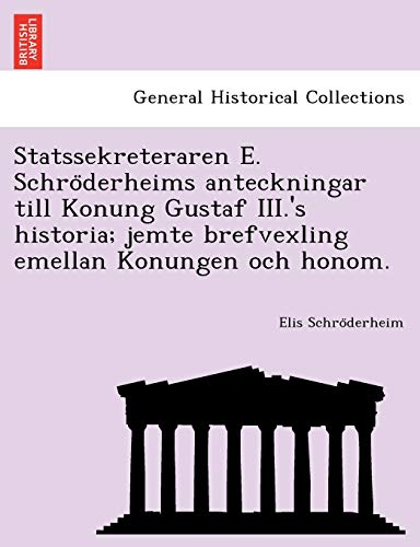 Schro¨derheim, E: Statssekreteraren E. Schro¨derheims anteck