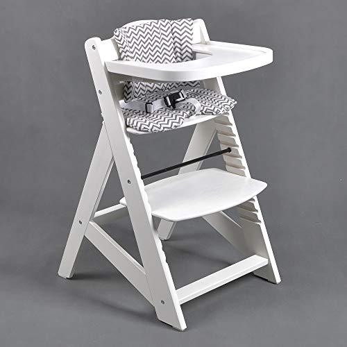 Hochstuhl Treppenhochstuhl Babyhochstuhl Kinderhochstuhl Kindertreppenhochstuhl Babystuhl WEISS HC6551-W