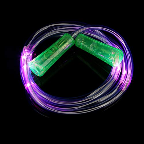 STARLIT LED Light Up Skipping Rope Glow in The Dark Jump Rope Indoor Fitness Skipping Toy for Kids Adults Home Exercise Green