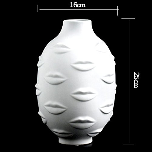 Ladies Face Head Planter Vase Face Vase for Flower Human Face Flower Vase Succulent Pot Home Garden Ornament White Ceramic Craft