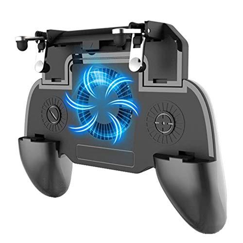 SONGVEN Gamepad para Celular Juegos Control 4000 mAh Banco de Energía Control para Celular Ventilador Controlador de Juego móvil para...