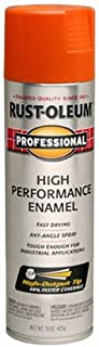Rust-Oleum 7555838 Professional High Performance Enamel Spray Paint, 15 oz, Safety Orange