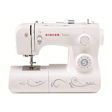 Singer Talent 3323S Portable Sewing Machine including 23 Built-In Stitches, Automatic Needle Threader, Top Drop-in Bobbin and Bonus Fashion Accessories