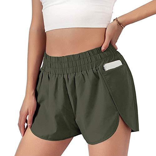 KYLEON Damen Shorts Sommer Kurze Hose,Solide Seilbindung Tunnelzug Elastische Taille Stoffhose Strand Shorts Hot Pants Yoga Sport Pants Leggings Trousers Schlafhose GroßE GrößE