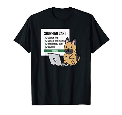 ショッピングカートジャーマン・シェパード・ドッグ犬 Tシャツ