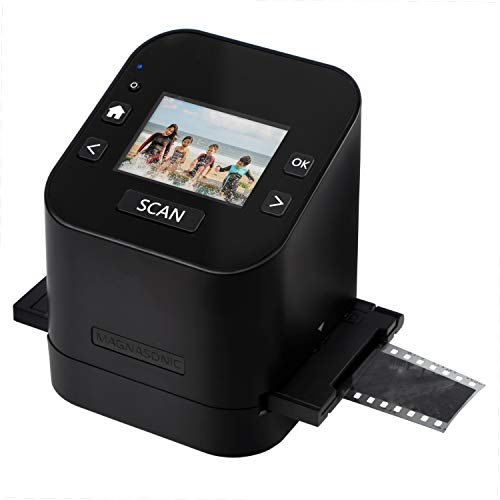 "Magnasonic All-In-One Film & Slide Scanner, High Resolution 22MP, Converts 35mm/110/126/ Super 8/8mm Film & 135/110/126 Slides into Digital JPEG, 2.4"" LCD Screen, Built-in Memory, Fast Scanning (FS52)"