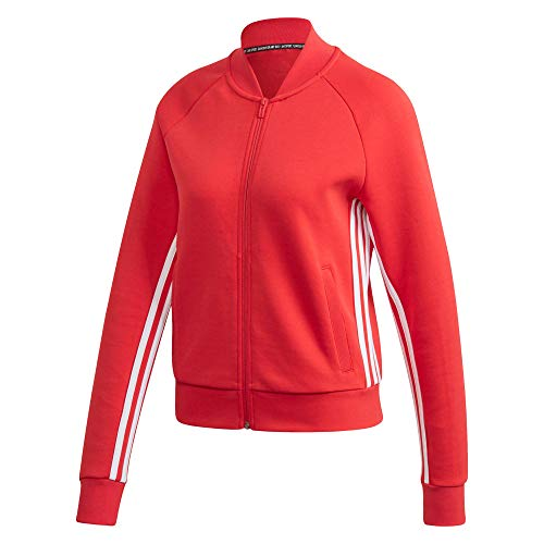 adidas W Mh 3s Dk Jkt Sportjacke für Damen L rot-glo/weiß