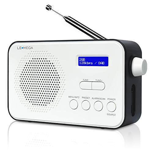 LEMEGA PR2 DAB/DAB+ Digital & FM Portable Radio, 40 Preset Stations,...