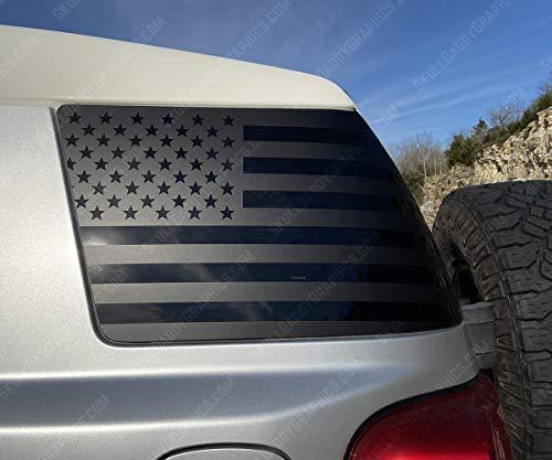 USA Window Flags Precut to fit Toyota FJ Cruiser 2007-2014 (Both Sides)