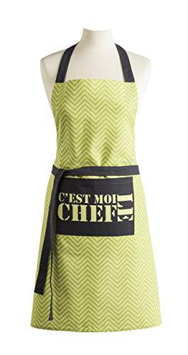 Coucke Tablier C'est Moi Le Chef, Coton, Vert, 82x70 cm
