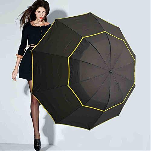 QNBD Gran Paraguas Plegable para el Hombre Umbrella Rain Woman 130 cm...