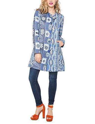 Desigual Damen CHAQ_Magic Blue Coat Jacke, Blau (Ducados), 36