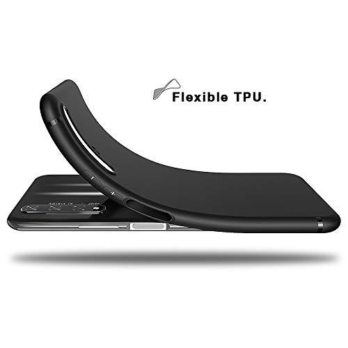 BENNALD Hülle für Honor 20 Hülle, Soft Silikon Schutzhülle Case Cover - Premium TPU Tasche Handyhülle für Huawei Honor 20 (Schwarz,Black) - 3