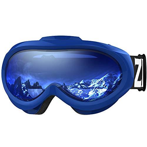 ZIONOR Lagopus X Mini Kinder Skibrille Verspiegelt Snowboard Skate Schneebrille mit 100{c0fb974f7d67d3a3e133aaca24a78c5648bd3be6ca726ad3d66c5ccf61e8d1cd} UV-Schutz Anti-Nebel abnehmbare WeitWinkel Doppel-Panorama-Objektiv für Kinder, Jugend