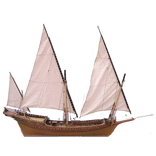 YAOHM Escala 1/48 de la Nave clásica Kits Modelo de Madera del Barco Modelo de Kit