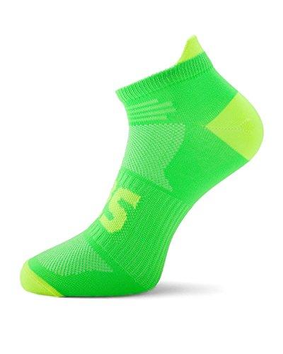 SLS3 Running Socks For Men, Women - Anti Blister - Arch Support - Neon Colors - NL-S