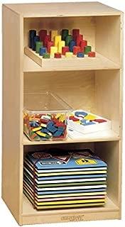 Childcraft 071876 Durable Mini Storage Shelf Unit, 3-Shelves, Birch Veneer Panel, UV Acrylic, 35-3/8