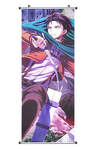 CoolChange Poster/Kakemono Attaque des Titanes en Tissu, 100x40 cm, desiin: Levi Ackerman