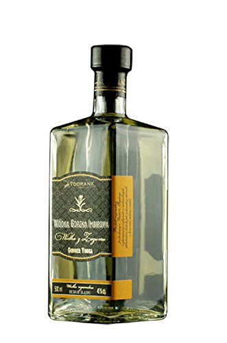 Ingwer Wodka | Ginger Vodka | Polnische, regionale Spezialität: hochwertiger Wodka, schönes Flaschendesign | 0,5 L, 40%