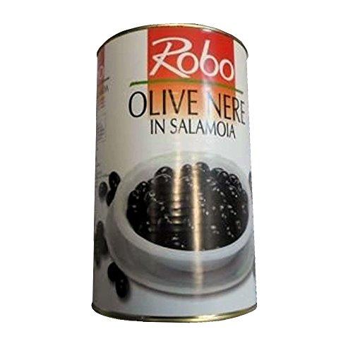 4100 GR OLIVE NERE IN SALAMOIA CON NOCCIOLO IN LATTA OLIVA PER APERITIVO APERICENA HAPPY HOUR
